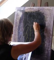 Nadège Oganesoff peint l'Afrique noire