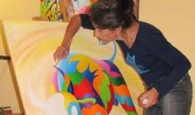 Galka peint sa joie et son bonheur de vivre