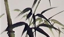 Peindre un oiseau et des bambous à l'encre